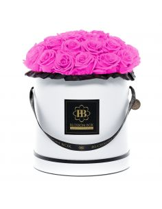 XL - Classic White - Bouquet de Luxe - Paris Hot Pink