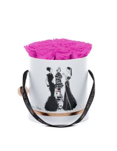 Large - Fashion Blossom Box by Megan Hess - Limited Edition - Paris Hot Pink