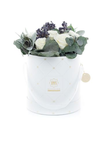 Large - Premium White - Mixed Infinitybouquet - Cashmere Touch