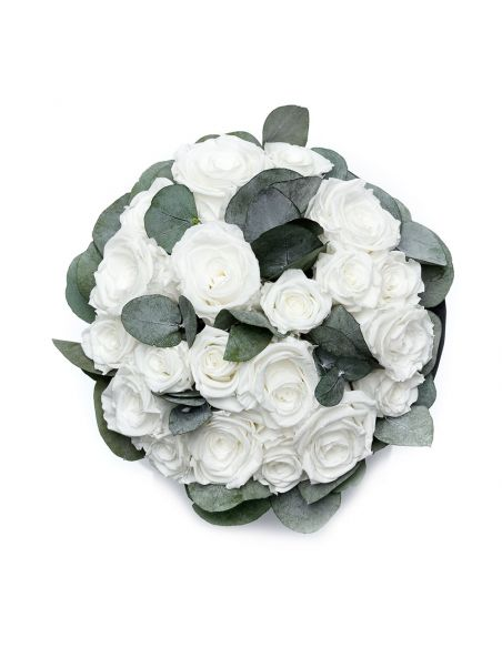 Large - Classic White - Mixed Infinitybouquet - Double Classic