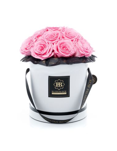L - Classic White - Bouquet de Luxe - Mary Pink