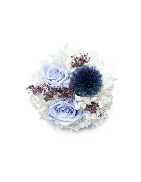 Medium - Premium White - Mixed Infinitybouquet - The Icequeen