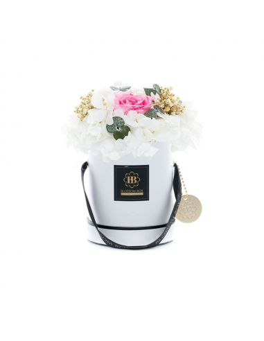 Small - Classic White - Mixed Infinitybouquet - Melon Sorbet